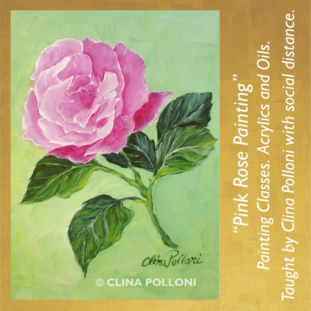 Painting Class-Pink Rose